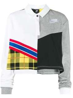 Nike укороченная рубашка-поло