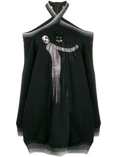 Marco De Vincenzo декорированный джемпер с открытыми плечами