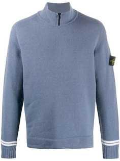 Stone Island свитер с воротником на молнии с логотипом