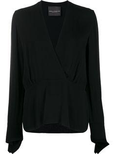 Erika Cavallini блузка Margot с V-образным вырезом