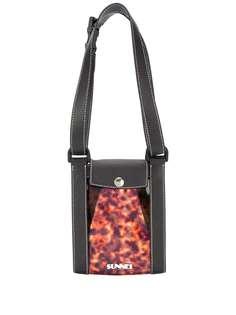 Sunnei сумка-тоут с контрастной вставкой
