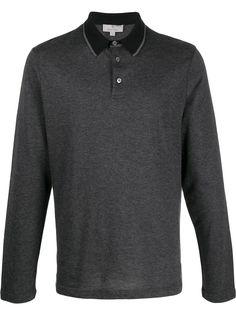 Canali рубашка-поло с контрастным воротником