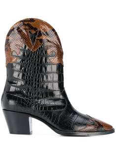 Paris Texas crocodile-effect cowboy boots