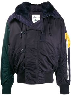 Lacoste color-block hooded jacket