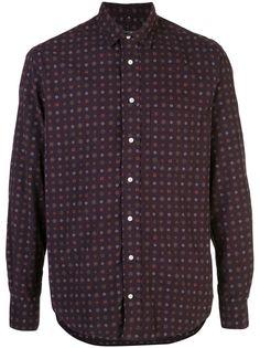 Gitman Vintage рубашка с длинными рукавами и узором