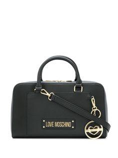 Love Moschino сумка-тоут с металлическим-логотипом
