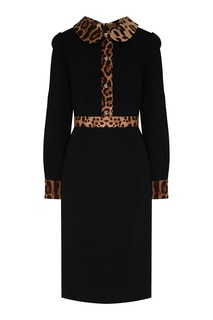 Платье с леопардовыми вставками Dolce & Gabbana