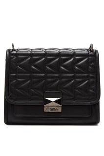 Черная сумка со стеганой отделкой Karl Lagerfeld