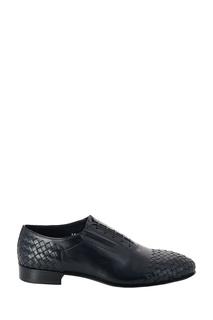 Темно-синие кожаные туфли с плетением Roberto Rossi