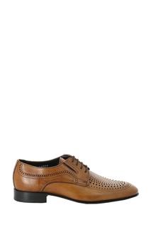 Коричневые кожаные туфли с перфорацией Roberto Rossi