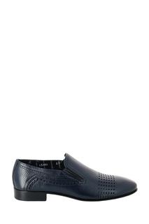 Темно-синие кожаные туфли Roberto Rossi