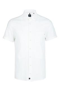 Белая рубашка с короткими рукавами Strellson