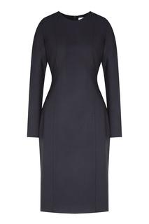 Темно-синее платье с длинными рукавами Hugo Boss