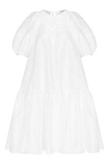 Белое платье оверсайз Alexa Cecilie Bahnsen