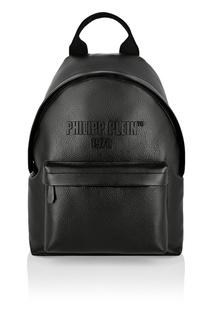 Черный кожаный рюкзак PP1978 Philipp Plein