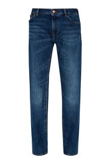 Синие джинсы с потертым эффектом Hugo Boss