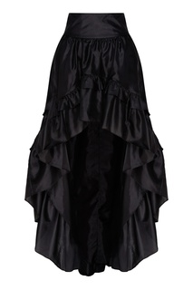 Черная юбка из тафты Kalista Love Shack Fancy