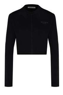 Черный спортивный джемпер с логотипом Acne Studios