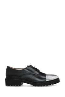 Черные ботинки-дерби с контрастным мысом Portal
