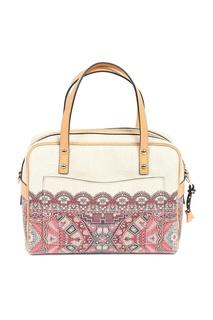 Бежевая сумка с орнаментами и отделкой Etro