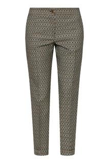 Бежевые брюки с узорами Etro