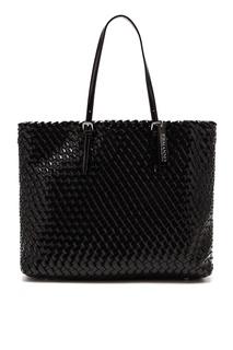 Черная плетеная сумка-тоут Ermanno Ermanno Scervino