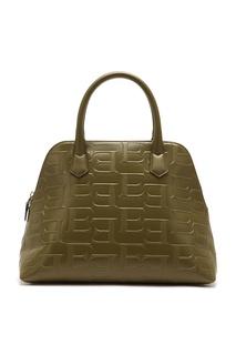 Оливковая кожаная сумка с монограммами Ermanno Ermanno Scervino