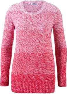Пуловер меланж с цветовым переходом Bonprix