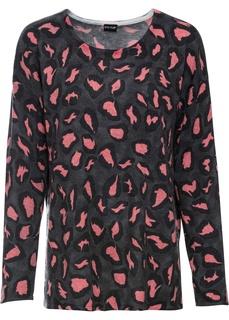 Пуловер с леопардовым узором Bonprix