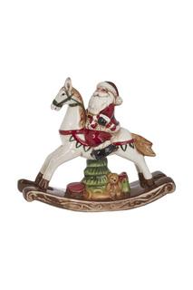 Лошадь-качалка с Дедом Морозом DUE ESSE CHRISTMAS