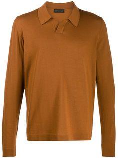 Roberto Collina рубашка-поло с длинными рукавами