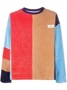 Kenzo colour block corduroy sweatshirt