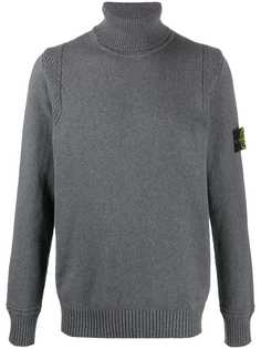 Stone Island mottled knit turtleneck jumper