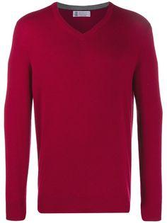 Brunello Cucinelli пуловер с V-образным вырезом