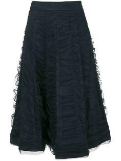 Gloria Coelho юбка миди из тюля с драпировкой