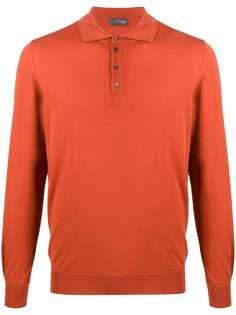 Drumohr рубашка-поло с длинными рукавами