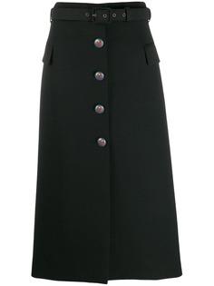 Givenchy юбка миди на пуговицах