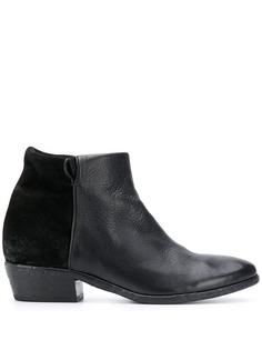 Strategia ботинки на блочном каблуке с контрастной вставкой