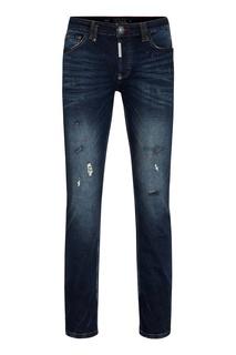 Темно-синие узкие джинсы Philipp Plein