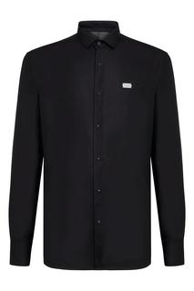 Черная рубашка с длинными рукавами Philipp Plein
