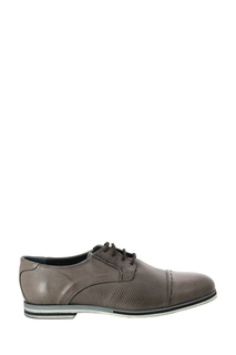 Бежевые кожаные туфли с перфорацией Roberto Rossi