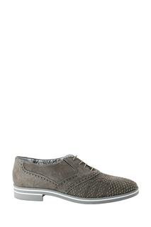 Бежевые замшевые туфли с перфорацией Roberto Rossi