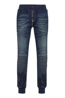 Синие джинсы в спортивном стиле Philipp Plein