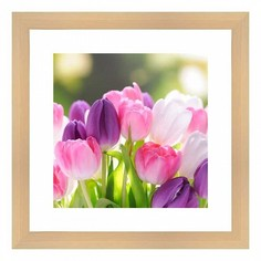 Картина (40х40 см) Букет тюльпанов BE-103-183 Ekoramka