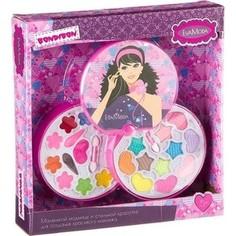 Набор детской декоративной косметики Bondibon Eva Moda Косметичка-диск 2х-уровневая (ВВ2272)