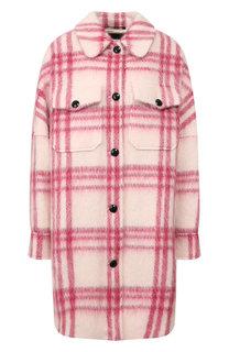Пальто в клетку Woolrich