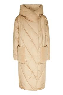 Стеганое пальто с накладными карманами Milamarsel