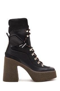 Ботинки на высокой подошве со шнуровкой Stella Mc Cartney