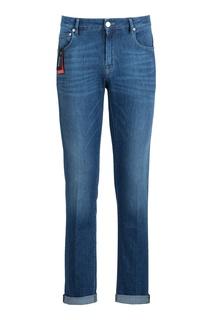 Синие джинсы с классической посадкой Pantaloni Torino