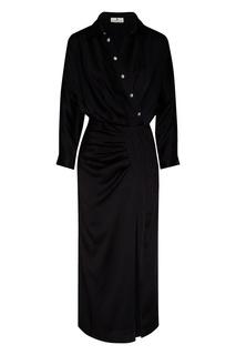 Длинное платье с запахом и драпировкой Laroom